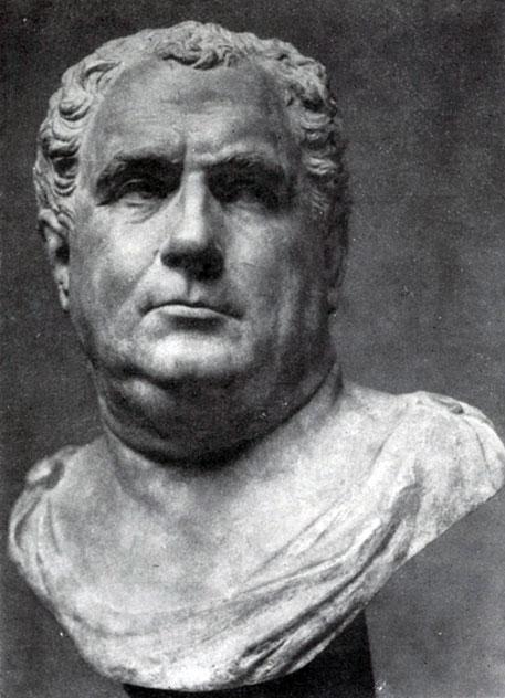 275 а. Портрет Вителлия. Мрамор. 68—69 гг. н. э. Париж. Лувр.